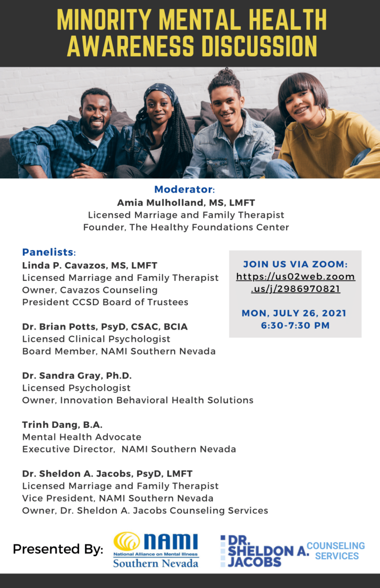 Minority Mental Health Awareness Discussion